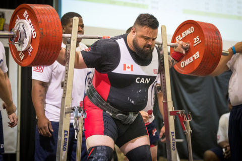 Male Powerlifter Competing