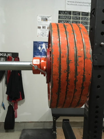 5 Plates on One End of Benchpress Bar