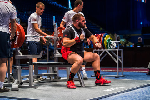 Powerlifter Preparing for Competitive Benchpress Lift