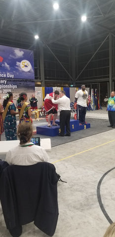 Powerlifting Competition Winners being Placed