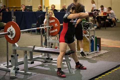 Powerlifter Preparing to Lift