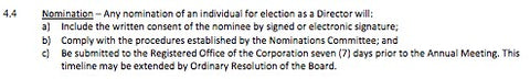 Nomination Rules