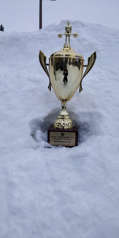 Powerlifting Championship Sitting in Snow