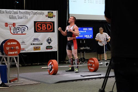 Powerlifter after Successful Lift
