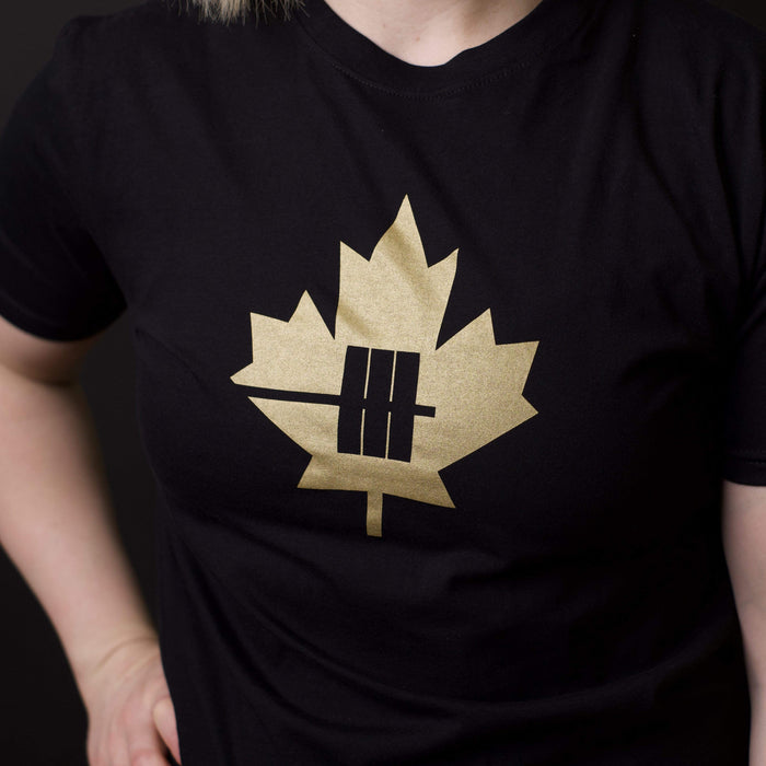 Inner Strength Products Shirts Inner Strength Products - Gold Maple Leaf Tee