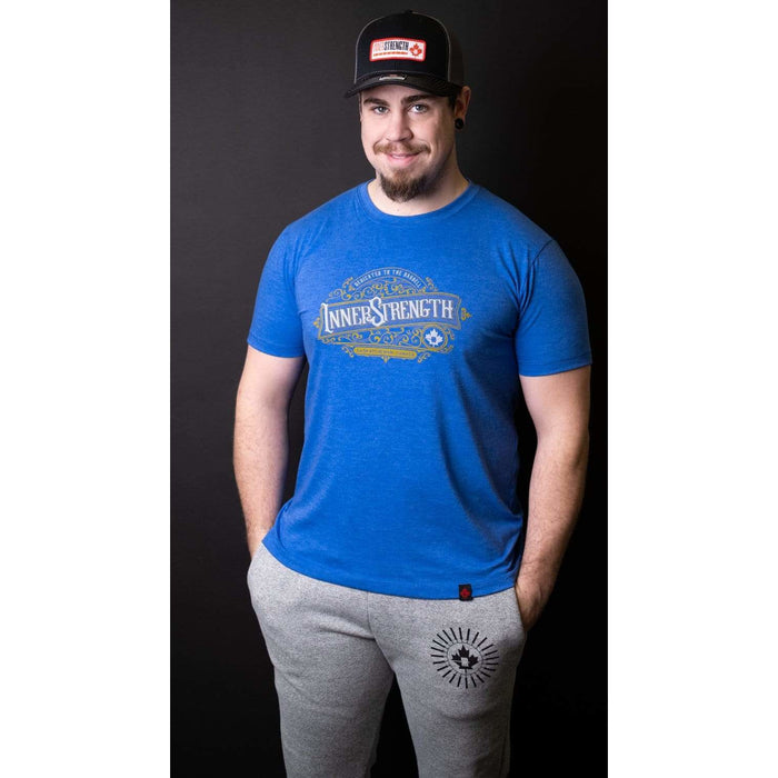 Inner Strength Products Shirts Inner Strength Products - Vintage Dedicated to the Barbell Tee
