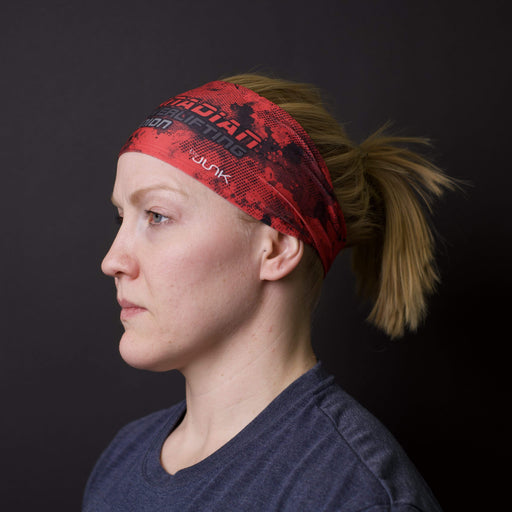 JUNK Brands headband Canadian Powerlifting Union Logo Grunge Headband - Big Bang Lite