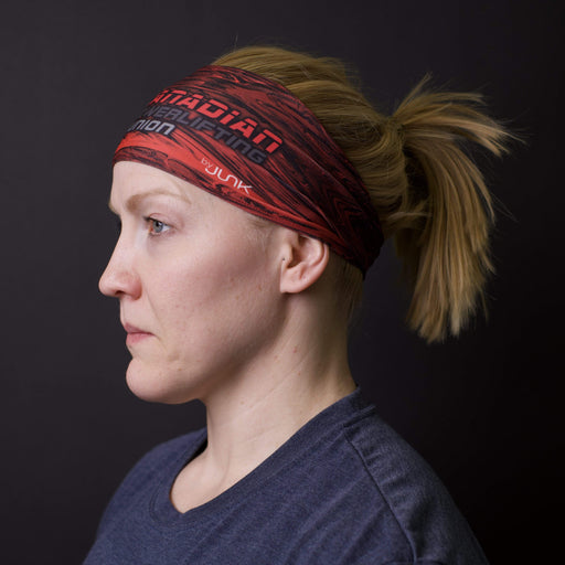 JUNK Brands headband Canadian Powerlifting Union Logo Pyroclast Headband - Big Bang Lite