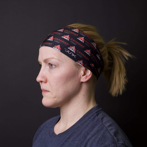 JUNK Brands headband Canadian Powerlifting Union Repeating Logo Black Headband - Big Bang Lite