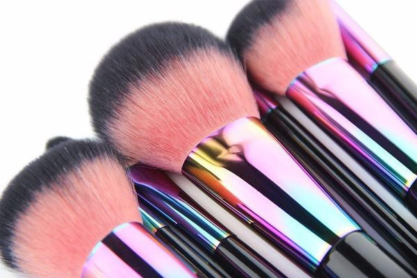 Copper Colorful Pinceaux Maquillage Make Up Brushes Set 7 pcs