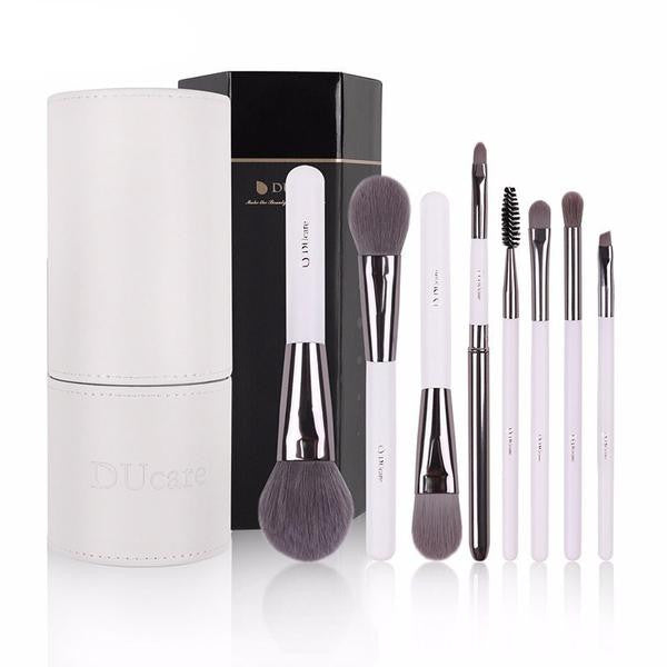 Exclusive Makeup Brushes Set with White Holder