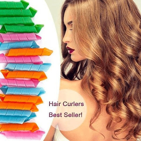 NON-HEAT MAGIC HAIR CURL ROLLERS