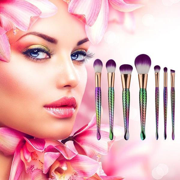 Mermaid Makeup Brushes Set