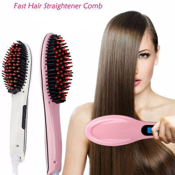 Hot Electric Fast Hair Straightener Brush