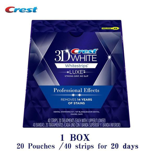 Crest 3D Teeth Whitening Strips - 10/20 Pouches
