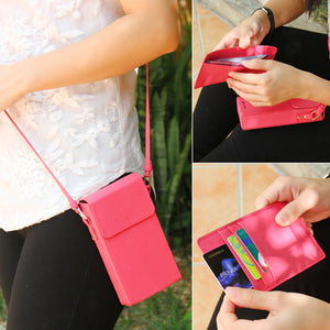 Crossbody Phone Case With Slide Out Wallet Card Holder