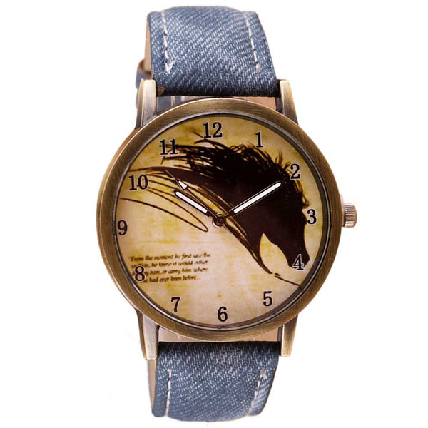 Vintage Horse Painting Watch