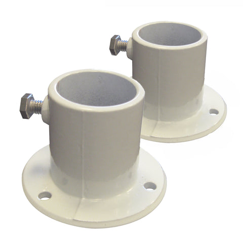 Aluminum Deck Flanges for Above Ground Pool Ladder - Pair