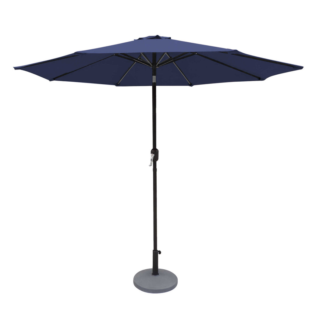 Island Umbrella 9' Oct Market Umbrella w/ Mister Kit Navy Blue - Olefin