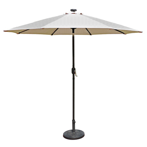 Mirage Fiesta 9-ft Octagonal Market Umbrella with Solar LED Lights