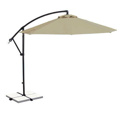 Santiago 10-ft Octagonal Cantilever Umbrella with Sunbrella Canopy