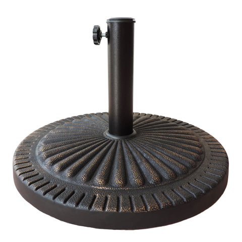 31-lb All-Weather Outdoor Poly-Resin Umbrella Base - Bronze