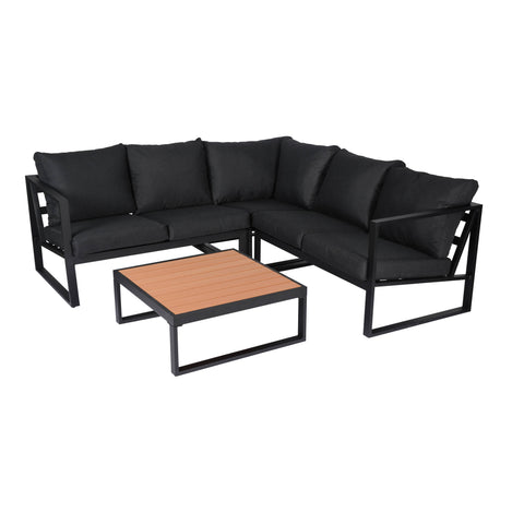 Monaco Contemporary Outdoor Sectional - Slate Grey