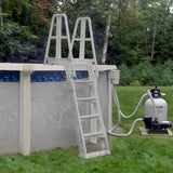 Premium A-Frame Above Ground Pool Ladder - Gray