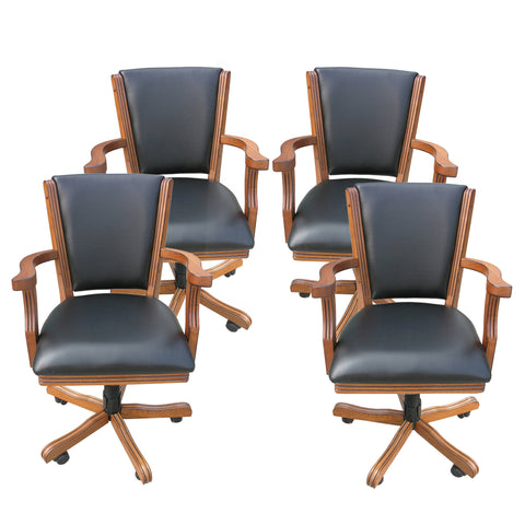 Kingston Oak Poker Table Arm Chair  - Set of 4