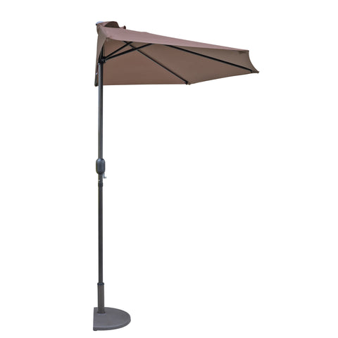 Lanai 9-ft Half Umbrella in Polyester