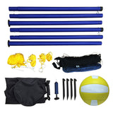 Portable Volleyball Net, Posts, Ball & Pump Set