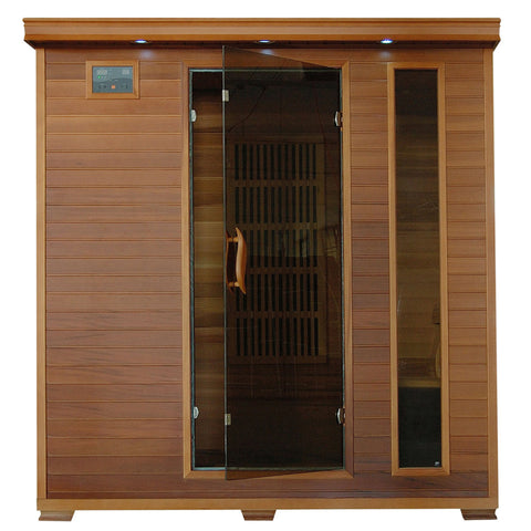 Klondike 4-Person Cedar Infrared Sauna w/ 9 Carbon Heaters