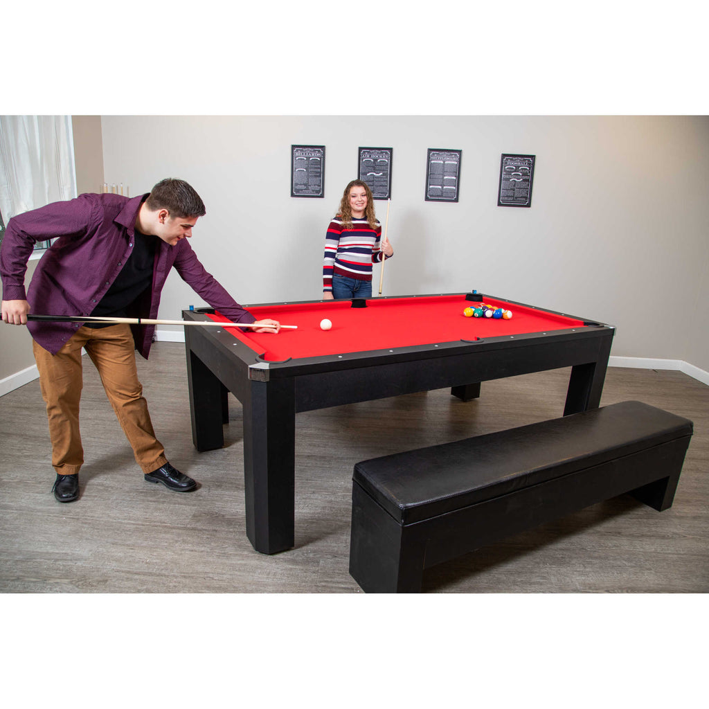 Park Avenue 7 Foot Pool Table Tennis Combination With Dining