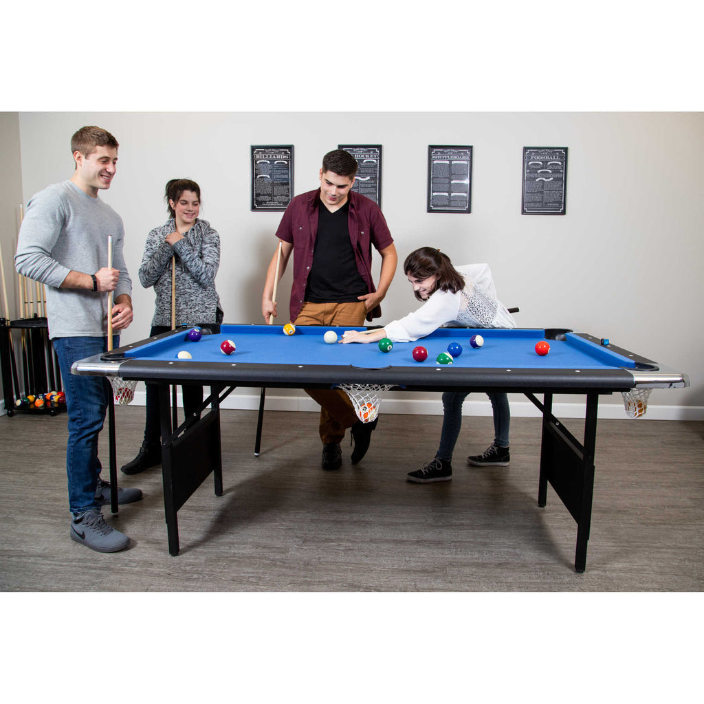 Fairmont Portable 6 Ft Pool Table For Families With Easy Folding For S Blue Wave Products