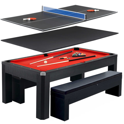 Billiards Blue Wave Products - Combination billiard ping pong table