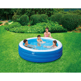Blue Wave® 7.5ft x 22in Deep Inflatable Round Family Pool w/Cover