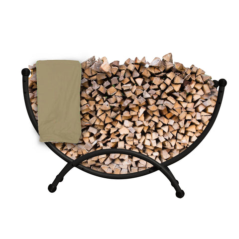Deluxe Steel Firewood Storage with Cover 5-ft
