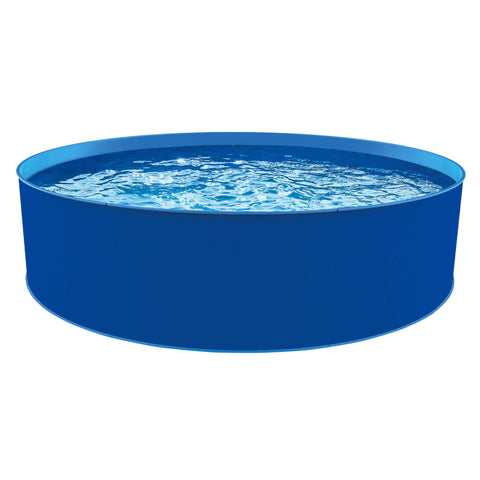 Blue Wave® Cobalt Steel Wall Pool Package - 15-ft Round 48-in Deep