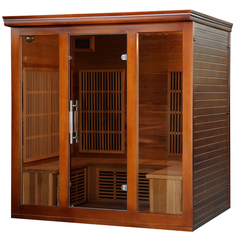 Cedar Elite 4-5 Person Premium Sauna w/ 9 Carbon Heaters