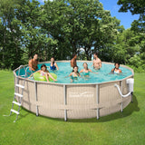 Light Wicker Metal Frame Pool Package