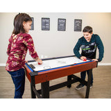 Triad 3-In-1 48-In Multi Game Table with Pool, Glide Hockey, and Table Tennis for Family Game Rooms