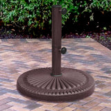 66-lb Weather Resistant Umbrella Base in Bronze Resin Finish