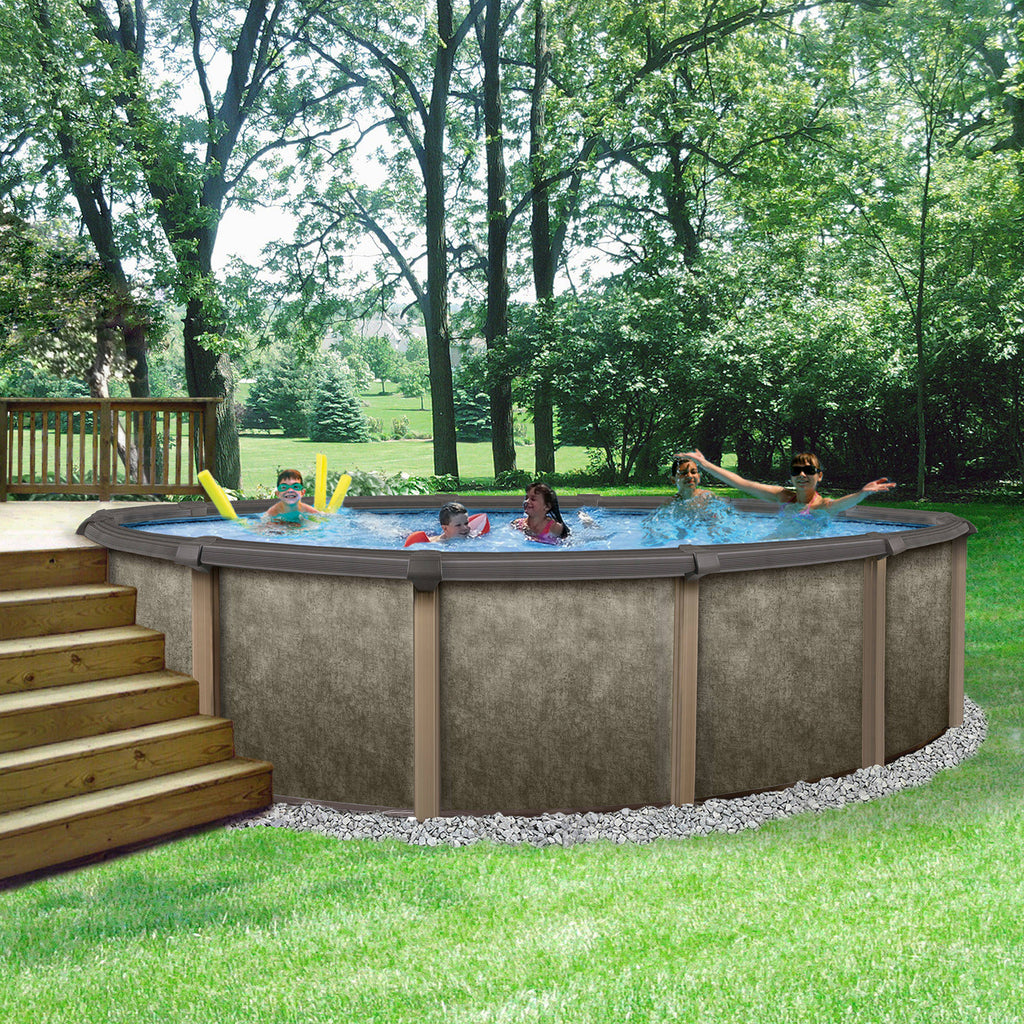 Riviera Round 54-in Deep Steel Wall Hybrid Above Ground Pool w/ 8-in T –  Blue Wave Products