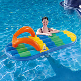 Beach Striped Flip Flop 71-in Inflatable Pool Float
