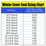 600-ft Winter Cover Seal for Above Ground Pool