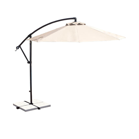 Santiago 10-ft Octagonal Cantilever Umbrella with Olefin Canopy