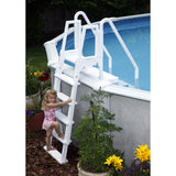 Easy Pool Step With Outside Ladder for Above Ground Pools