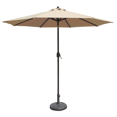 Mirage 9-ft Octagonal Market Umbrella w/ Auto-Tilt in Olefin