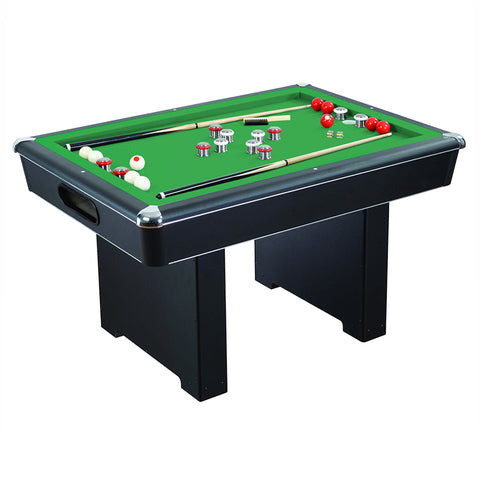 Renegade 54-In Slate Bumper Pool Table for Family Game Rooms with Green Felt, 48-In Cues, Balls, Brush and Chalk