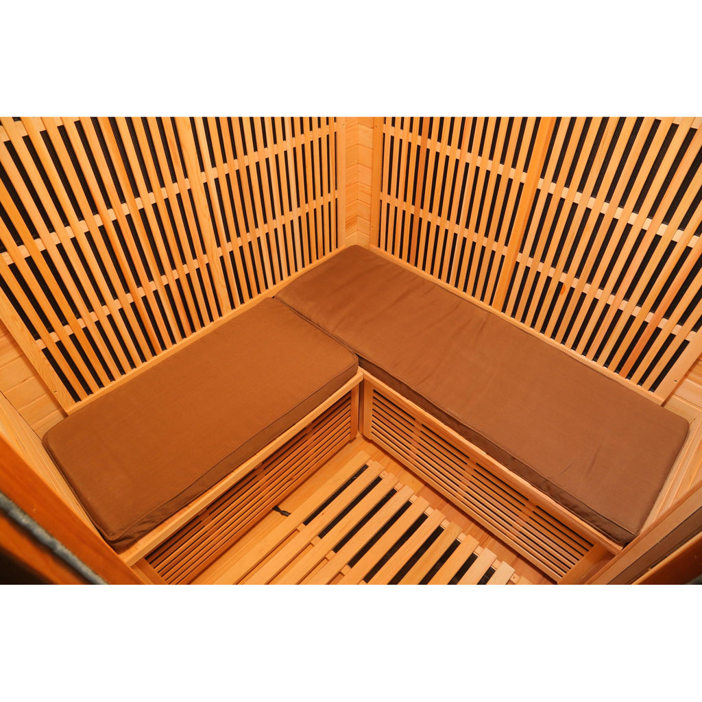 Seat Cushions for 3-Person Sauna - Brown